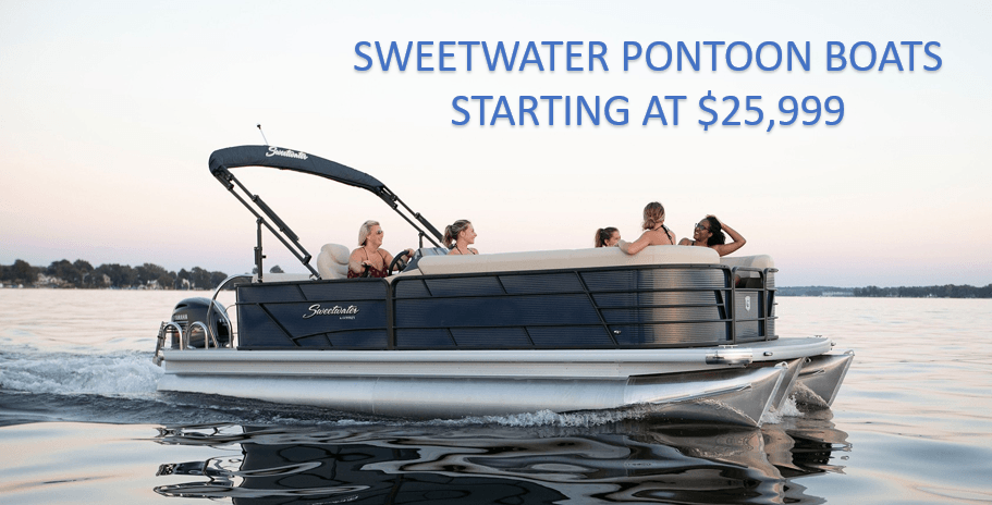 Sweetwater Pontoon Boats starting at $25,999